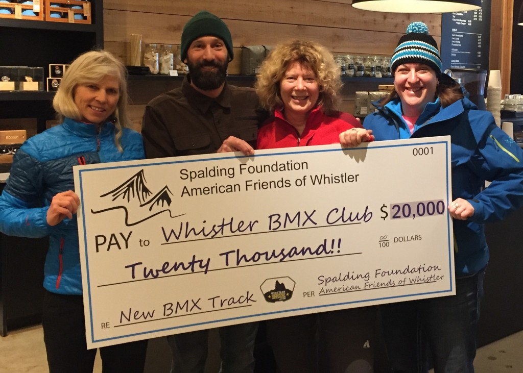 Whistler BMX Spalding Family Foundation Donation