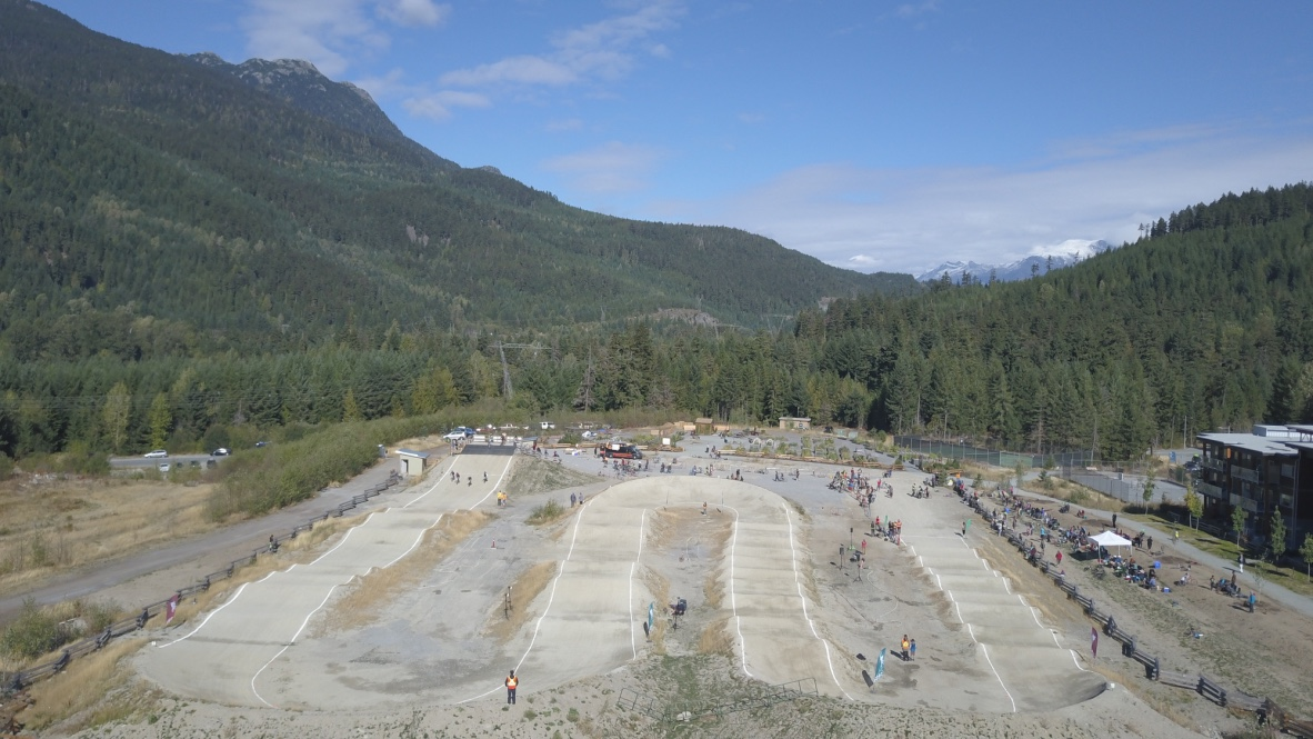 Whistler BMX Drone Image Looking North