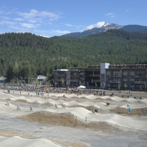 Whistler BMX Drone Image With Mountain